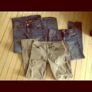 Cat & Jack Boys 3 pair of Jeans Size 10